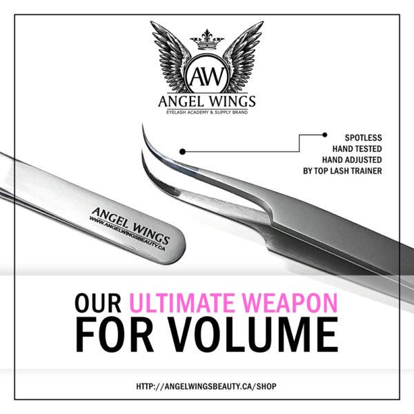 Volume tweezers ANGEL WINGS MAXIMA